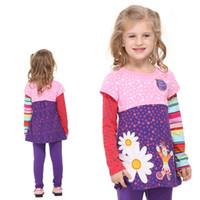 cotton night shirt - Kids Wear Girls Tops In the Night Garden Appliqued Cotton Long Sleeve T shirt for Girls Baby Girls New T shirt NOVA F1960