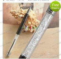 Wholesale LLFA4133 Crazy Sales White Crystal black touch pen Swarovski Crystal refills