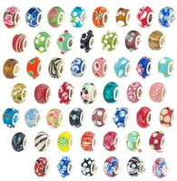 Wholesale loose beads High quality MURANO Beads charms with silver core glass loose beads for DIY jewelry