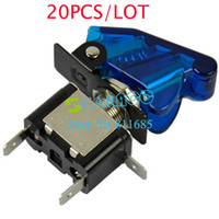 Wholesale Hot Blue Car Toggle Switch Auto Cover LED SPST V A TK0119