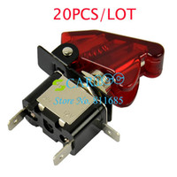 Combination Switch auto push - Hot V A Car Toggle Switch Auto Cover LED SPST Red TK0118