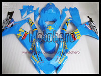 Wholesale 7gifts high quality blue yellow black for SUZUKI GSXR600 K6 GSX R750 ABS fairing kit gifts e69322