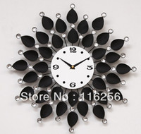 Wholesale Continental Iron Metal Sunflower flowers Mute wall clock table Living room quartz clock pocket watch F182