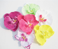 Wholesale Colors Orchid Hair Flower Grip Pin Slide Bridal Wedding Head Clip Headpiece