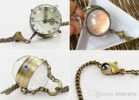 Wholesale Vintage Steampunk Style Ball Pocket Watch Necklace WN11026