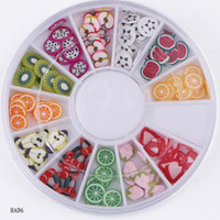 Half French Nail Tips as picture Fruits Style Polymer Clay Nail Art Various Patterns 12 Colors Shiny Manicure Kits Glitter Nail Tool Set 20 Boxes HAD6