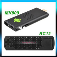 Wholesale Android TV BOX MK809 RK3066 GHz GB RAM GB ROM D Cortex A9 Mini PC Android TV Box Wifi RC12 air mouse