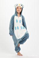 Wholesale Flannel Owl Pajamas Unisex Children Kigurumi Onesies Cosplay Costumes Animal Pajamas Christmas Gift For Kid Cartoon Cute Pyjamas Children