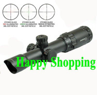 Wholesale Sniper Tactical x28 Mil Dot Illuminated Rifle Scope With Flip Up Covers