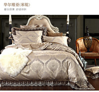 Wholesale Luxury Lace Jacquard bedding set home textile wedding silk cotton comforter duvet cover king queen size Satin bed linen bedclothes set
