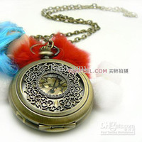 Digital Digital Zhejiang China (Mainland) Wholesale - Vintage Pocket Watch Watch Necklace Free Shipping