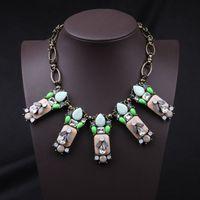 Wholesale 2014 fashion chain costume statement collar pendant choker bib vintage Necklaces for women jewelry