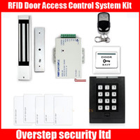 Wholesale RFID Door Access Control System Kit KG Magnetic Lock Remote Control NEw