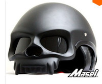 Wholesale Half Face Motorcycle helmet masei skull helmet DOT Approved