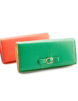 Wholesale Modern Buckle PU Leather Women s Solid Color Wallet purse u5 rRy