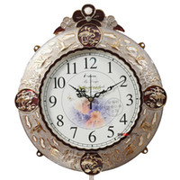Wholesale Metal clock fashion rustic super mute wall clock decoration quartz clock and watch