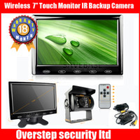 Wholesale Wireless Reversing Kit quot Touch Monitor IR Backup Camera Caravan Horse Box TruckWireless Reversing Kit quot Touch Monitor IR Backup Camera Car