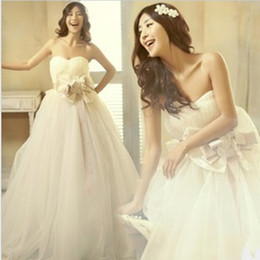 Wholesale 2016 new fashion sexy sweet princess big bow wedding dress custom made plus size maternity pregnant women wedding dresses