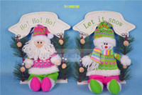 Wholesale Christmas sitting santa sownman decoretion christmas gift ornament supply multi colors