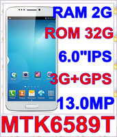 "Hero 6.0 Android 2013 NEW unlock position NOTE 3 N9000 N9002 MTK6589T Quad Core 1.5GHz 1280*720 IPS 6.0""IPS 3G WIFI GPS pk zopo zp890"