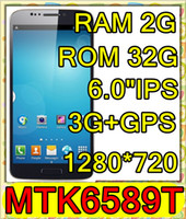 """Hero 6.0 Android 2013 NEW unlock position NOTE 3 N9000 N9002 MTK6589T Quad Core 1.5GHz 1280*720 IPS 6.0""""IPS 3G WIFI GPS pk zopo zp998"""