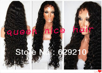 Wholesale Grade A deep wave inch peruvian virgin human hair glueless silk top front lace wig amp silk top full lace wig