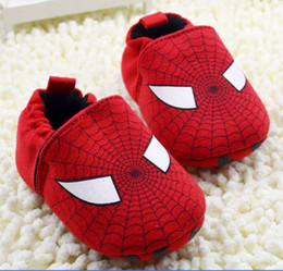 Wholesale Spider Man not to drop the Baby Shoes Infant soft bottom cotton shoes Toddler First Walker Shoe TS126