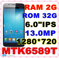 "Star 6.1 Android 2013 newest N9002 Note 3 N9000 phone Android4.2 MTK6589T Quad core 6.0""IPS 1280*720 2GB Ram 32GB ROM 3G phone.SG delivery"