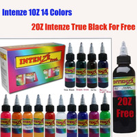 Wholesale Pro Bottles Tattoo Ink Colors OZ Pigment Set OZ True Black Ink For Gift Tattoos Supply