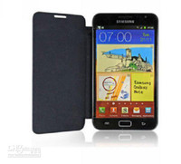 Wholesale Hot Sales High Quality Flip Genuine Pu Leather Case Cover For Samsung Galaxy Note N7000 I9220 Scr