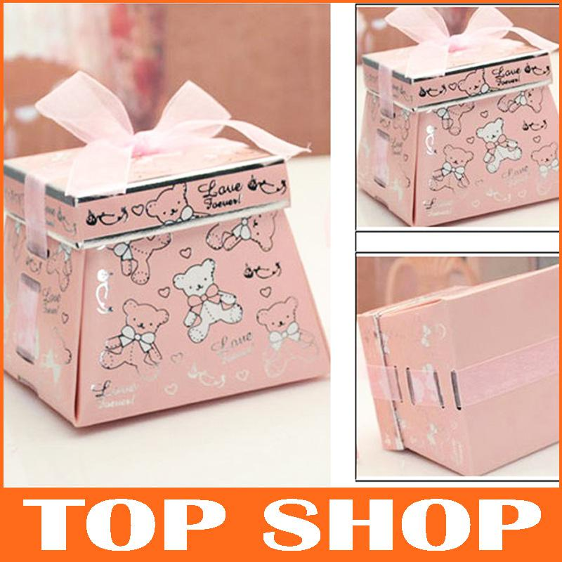 Medium Clear Favor Boxes : Candy box favor holders personality wedding favors medium
