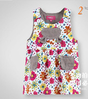 Wholesale Summer Children Dress Korean small shivering Girls vest Dresses Baby Kids Clothing white pink TS128