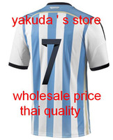 Thai Quality Customized New Argentina Home Soccer Jerseys #7...