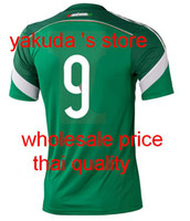 Thai Quality Customized Mexico 2014 World Cup Home Green Soc...