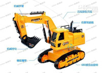 Wholesale LLFA4145 Remote Dig Dug Machine Toy Remote Control Car truck wireless remote control excavator