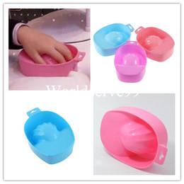 Wholesale Nail Art Tips Soak Bowl Tray Treatment Remover Manicure UV Gel Acrylic Nail Art Tools
