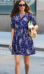 Wholesale 2013 Women s new fashion short sleeved chiffon floral dress