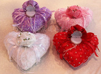 Wholesale Quit type wedding ring pillow pillow with ring box bridal wedding wedding ring box ring pillow