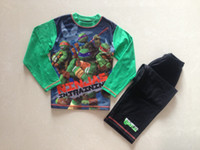 Wholesale children clothing kidsTeenage Mutant Ninja Turtles boys long sleeved pajamas pyjamas sleepwear suits