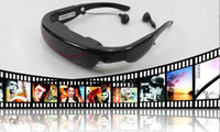 Wholesale Portable Eyewear Inch HD Widescreen Multimedia Player VG320 stereo Video Glasses Virtual Theatre GB HDMI interface