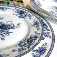 Wholesale bone china ceramic porcelain tableware dinnerware set pottery spoons dishs plates china kitchen dinnerware