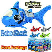 Wholesale Robo Shark Aquatic Toy Pet Robo fish Battery Operated Robotic Toy Kids Gift