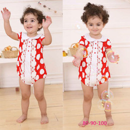 Big Discount red dot girls' rompers baby clothes bodysuits romper coverall tuxedo one-piece outfits shortall Baby One-Piece Rompers Melee