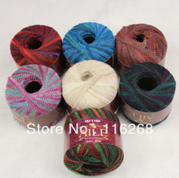 Wholesale Japanese dyeing line Hand knitting wool line Piece dyed ribbons yarn for knitting Dyeing clip flat ribbon line wool balls