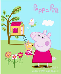 Wholesale cartoon baby blanket PEPPA PIG pink pig fleece blanket CM mixed batch Factory direct