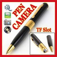 Wholesale Mini DV Pen Spy Video Hidden Spy Camera Recorder support max GB TF MicroSD