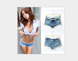 Wholesale 2013 sidepiece bandage ultra low waisted sex novelty short jeans sexy shorts women jeans sexy ladies shorts hot pants
