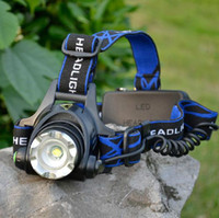 Wholesale CREE XM L XML T6 LED Lumens Zoom Rechargeable Headlight LED Headlamp CREE UltraFire x18650 Battery MAH Charger