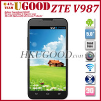 """5.0 Android 1G Multi Language ZTE V987 MT6589 Quad Core 1G RAM 4G ROM 3G Smartphone Phone Android 4.1 OS 5.0"""" 1280X720 IPS HD Screen 8.0MP"""