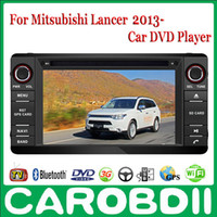Wholesale MITSUBISHI Lancer Pure Android Car DVD GPS Radio Player TV G Wifi FM BT OBD2 Functions Russian menu